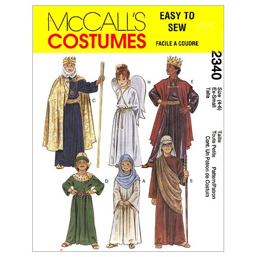 [McCall's Patterns M2340 Christmas Costumes, Size SML] (Home Made Angel Costumes Kids)