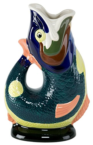 Gluggle Jug, Hand Painted, Extra Large (10-inch)