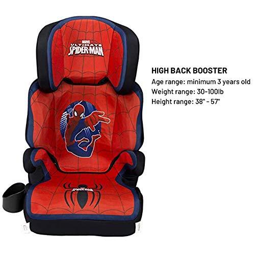 51XV9 XoEUL - KidsEmbrace High-Back Booster Car Seat, Marvel Spider-Man