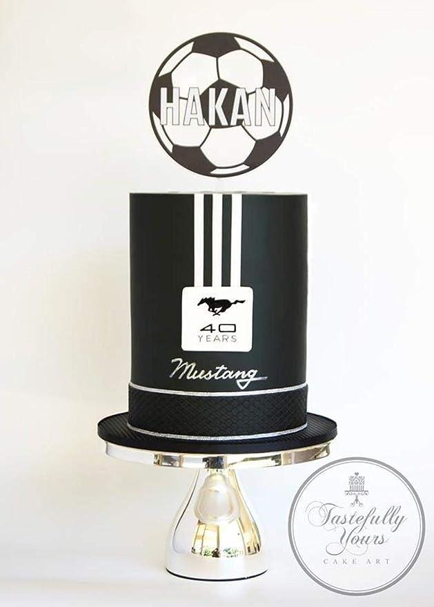 Decoración flotante para tarta de fútbol, diseño de balón de ...