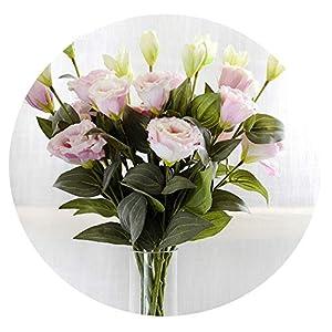 1PC European Artificial Flower 3 Heads Fake Eustoma Gradiflorus Lisianthus Christmas Wedding Party Home Decorative 5 Colours 35