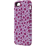 Speck Products CandyShell Inked Carrying Case for iPhone SE/5/5S - Retail Packaging - Petite Floral Boysenberry/Boysenberry Purple
