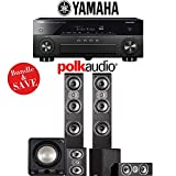 Yamaha AVENTAGE RX-A870BL 7.2-Channel Network A/V Receiver + Polk Audio TSi 400 + Polk Audio TSi 200 + Polk Audio CS10 + Polk Audio HTS12 - 5.1-Ch Home Theater Package