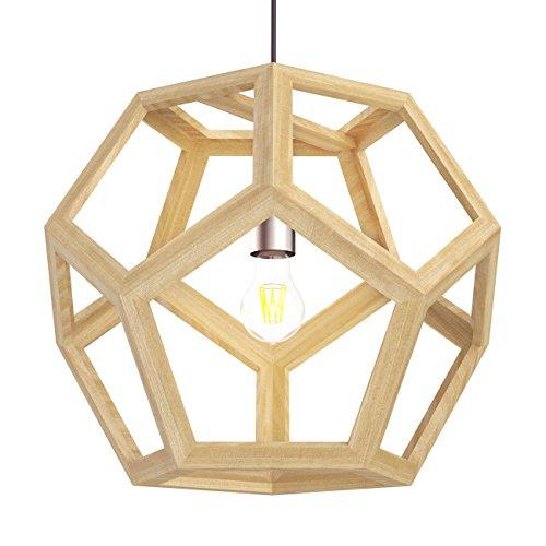 Tomons Hollow Design Wood Ceiling Pendant Lamp Geometry