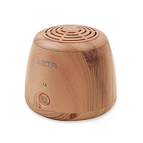 WSTA Portable Ozone Generator Purifier,Air Ionizer Cleaner,Ionic Air Purifier,Refrigerator,Shoe Cabinet,Small Room,Closet,Pet Area Odor Eliminator(Light Brown)