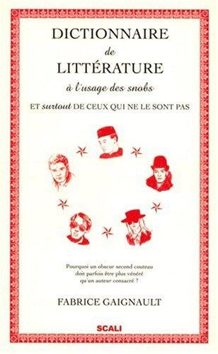 Dictionnaire de littérature à l