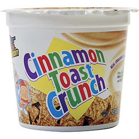 General Mills Cinnamon Toast Crunch Cereal In A Cup - 12 Pack
