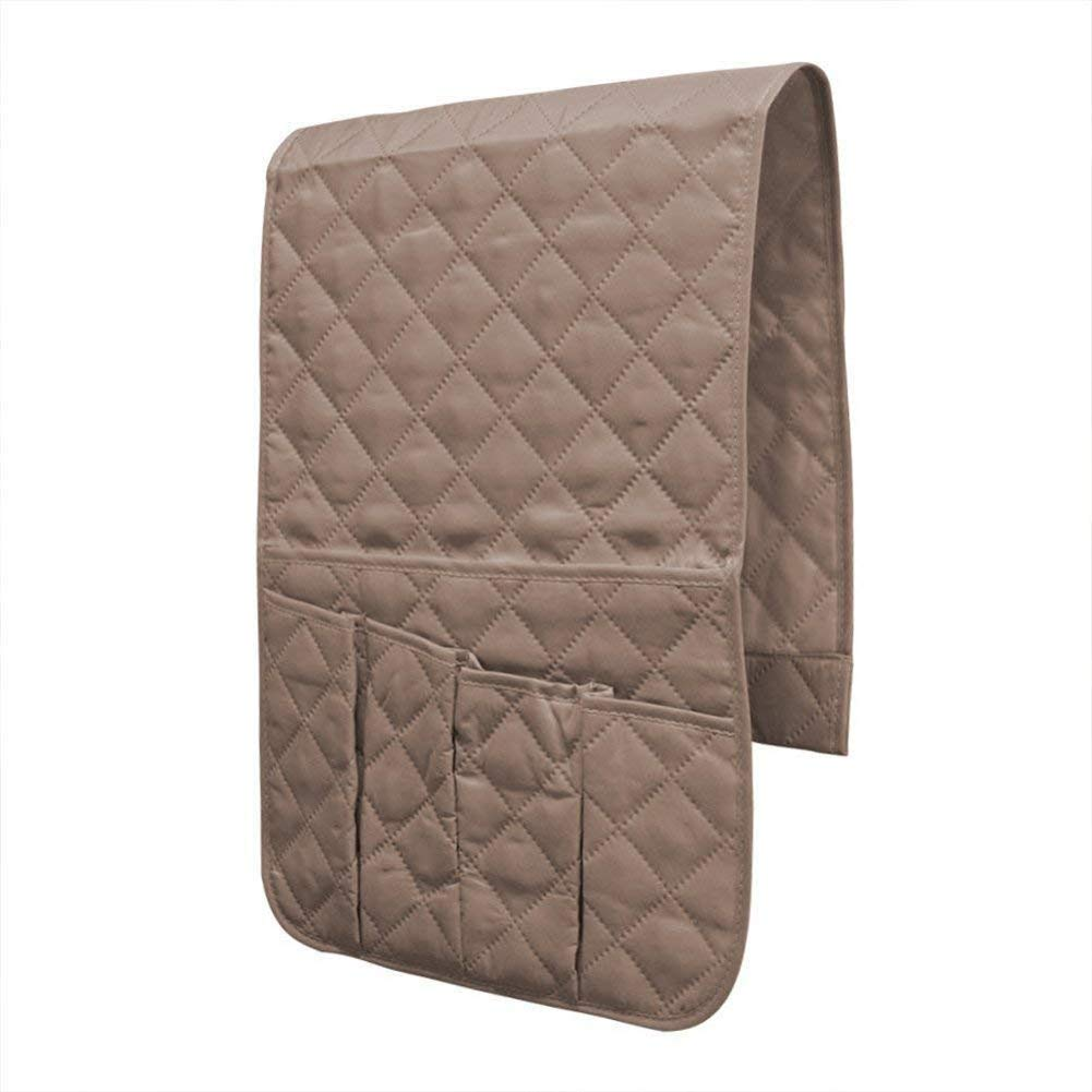 Eamay Sofa Armrest Storage Organizer Save Space Storage Bag,Fits for Phone, IPad, Books, Magazines, TV Remote Control(Beige)