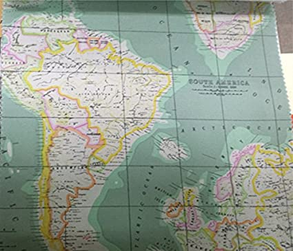 Amazon.com: Linen World Map Fabric Print by the Yard (59 inches)
