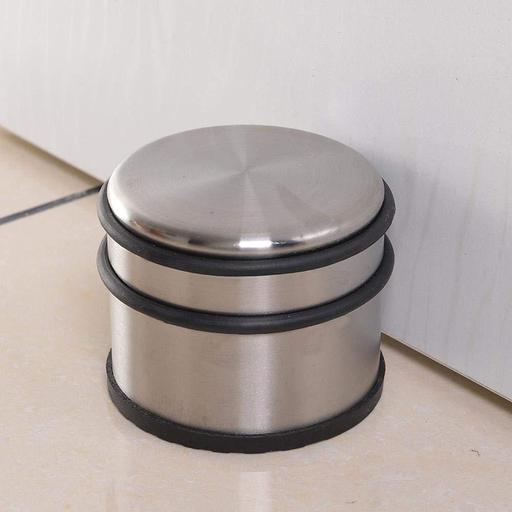 Arr/êt de porte auto-adh/ésif antirouille inoxydable But/ée /élastique cylindre porte Stopper fixation au sol