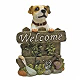 Design Toscano Jack Russell Terrier Dog Welcome Statue For Sale