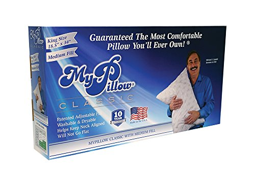 My Pillow Classic Series Bed Pillow, King Size, Medium (Tv Size)
