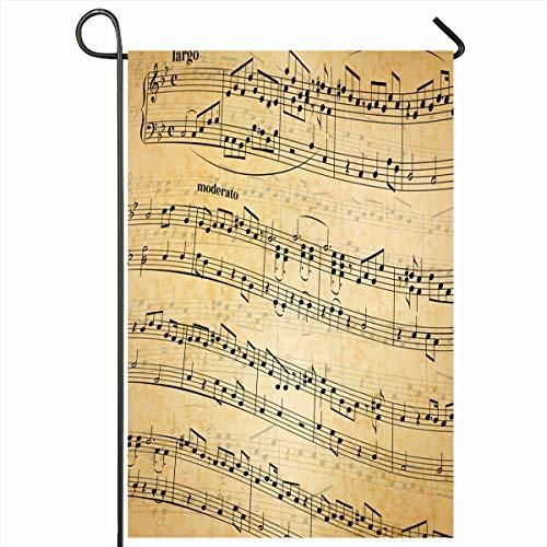 Antique Song Sheet - Ahawoso Outdoor Garden Flags 12