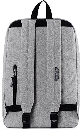 HotStyle 915s Vintage mochila colegio 24L - Impermeable para portatil de 15-inch - Negro F136A, Gris/Negro