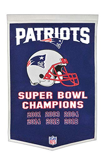 New England Patriots 6 Time Champions Dynasty Banner -