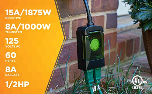 Woods 50011 Outdoor 24-Hour Plug-in Mechanical Timer, 2 - Import It