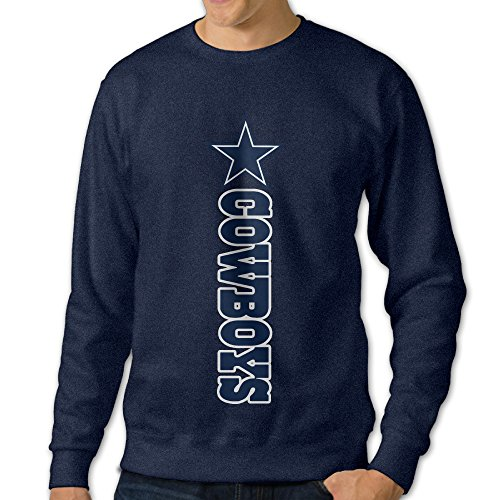 [U9 Men's Dallas Star Logo Cowboys Crew-Neck Sweater] (Mens Dallas Cowboy Football Costumes)