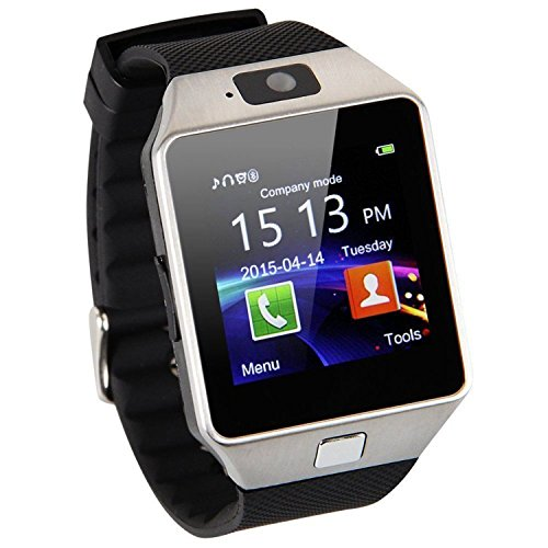 EasyDy Bluetooth Android Uhr 3G Telefon mit Kamera E038 (Silber)