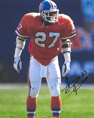 Pro Broncos Autographed Football Denver (Steve Atwater, Denver Broncos, Signed, Autographed, Football 8X10 Photo, a COA Will Be Included..)