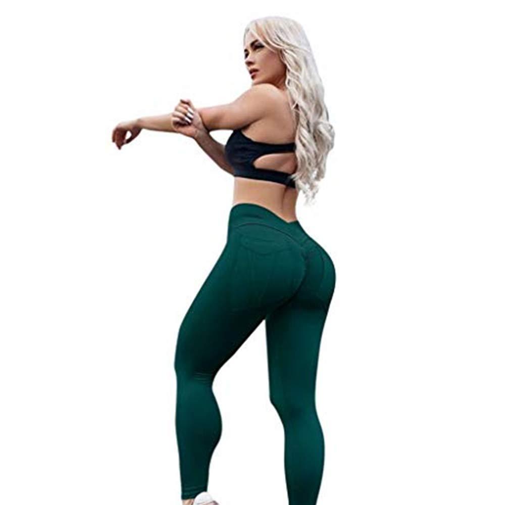 Push Up Women Sports Running Workout Stretch Leggings Slim Yoga Pants High Waist