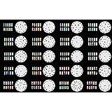 ABESTAIR Réutilisables Airbrush Nail Art pochoir 320 DESIGNS - modèle 20 feuilles Kit Set 2