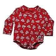 Case IH Baby Boy's Printed Onesie, Red, Size 12M