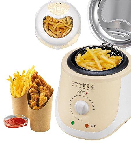 Friteuse 1 Liter Mini Fritteuse Fritöse 950 Watt Antihaftbeschichtet Frittöse cool touch
