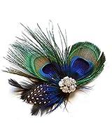 TOBATOBA Cute Peacock Feather Hair Clip