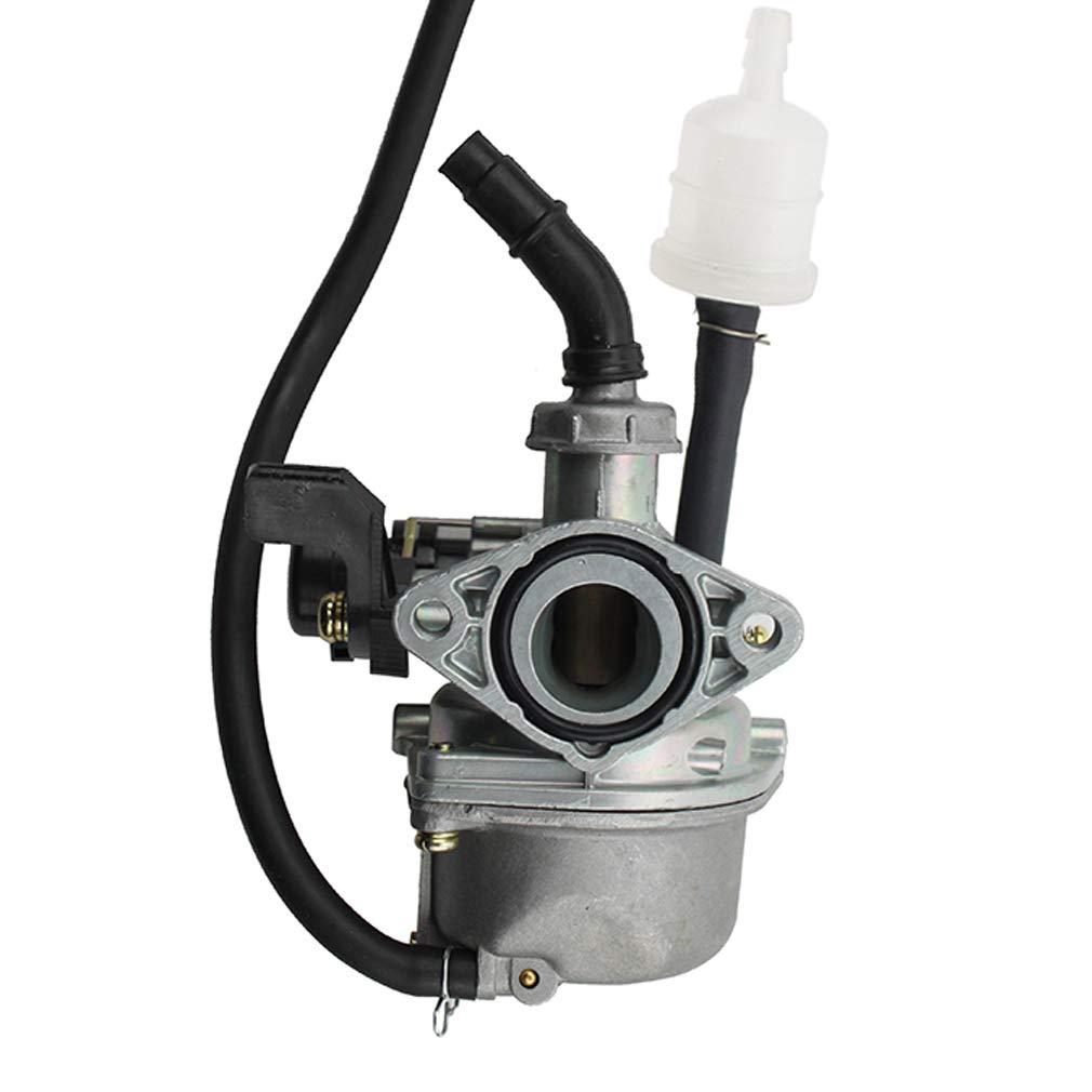 GOOFIT PZ19 19mm 110cc Carburateur avec Choke main Half Zinc et demi aluminium pour VTT Go Kart Dirt Pit Bike Quad N090-070