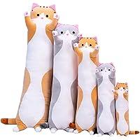 Long Cotton Cuddly Sleeping Pillow,Cute Plush Cats Doll Soft Stuffed Kitten Pillow Doll Toy Throw Pillow Gift for Kids…