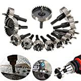Best to Buy New 13pcs High Speed Steel Hole Saw Drill Bits Set 16-53mm Hole Saw Cutter Power Tools single millwalkie drill rotc rifle podiatry schroeder hand central machinery press