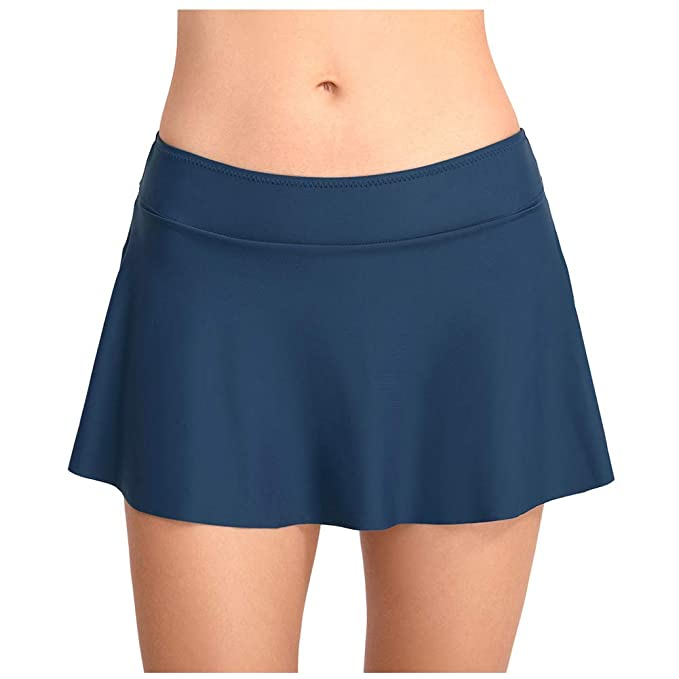 Meijunter Nadar Falda para Mujer- Sólido Color Bikini Tankini ...
