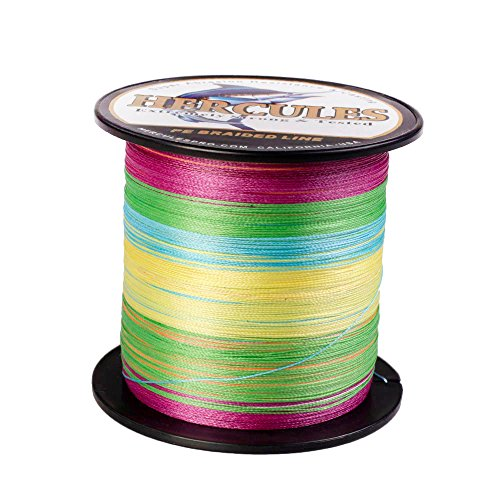 (HERCULES Super Strong 500M 547 Yards Braided Fishing Line 30 LB Test for Saltwater Freshwater PE Braid Fish Lines 4 Strands - Multicolor, 30LB (13.6KG), 0.28MM)