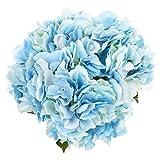 Soledi Artificial Silk Fake 5 Heads Beautiful Flower Bunch Bouquet Home  Decor Hydrangea (Blue)