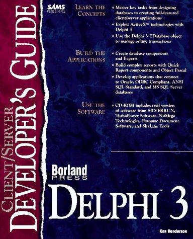 Client/Server Developer's Guide With Delphi 3 (Sams
