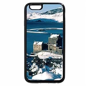 iPhone 6S Plus Case, iPhone 6 Plus Case (Black & White) - Eilean Donan Castle awesome winter photograph