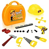QuadPro kids toy tool set 21 pieces Durable tool box with Electric drill, ...