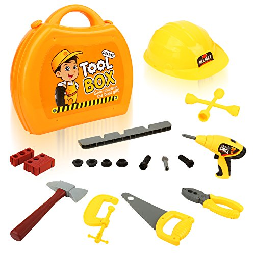 Toy Tool Kits For Girls : Quadpro kids toy tool set pieces durable box with
