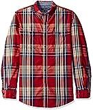 Men S Clothing Best Deals - U.S. Polo Assn. Men's Long Sleeve Classic Fit Button Down Plaid Sport Shirt, University Red, Medium