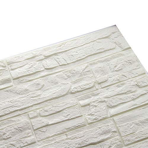 Whitegeese Peel and Stick Tile Backsplash Self-Adhesive Wall Tiles Stone Home Decor, Embossed Decal Stone (A)
