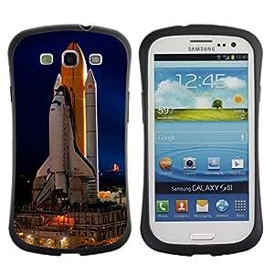 Suave TPU GEL Carcasa Funda Silicona Blando Estuche Caso de protección (para) Samsung Galaxy S3 I9300 / CECELL Phone case / / Space Rocket Launch Ship Nasa Flight Tecnology /