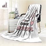Flannel Fleece Luxury Blanket dance school Plush Microfiber Solid Blanket(90''x 70'')