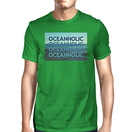 365 Unique shirt Printing Green Manches T Oceanholic Homme Shirt Taille Mens Courtes 0g0Brn7
