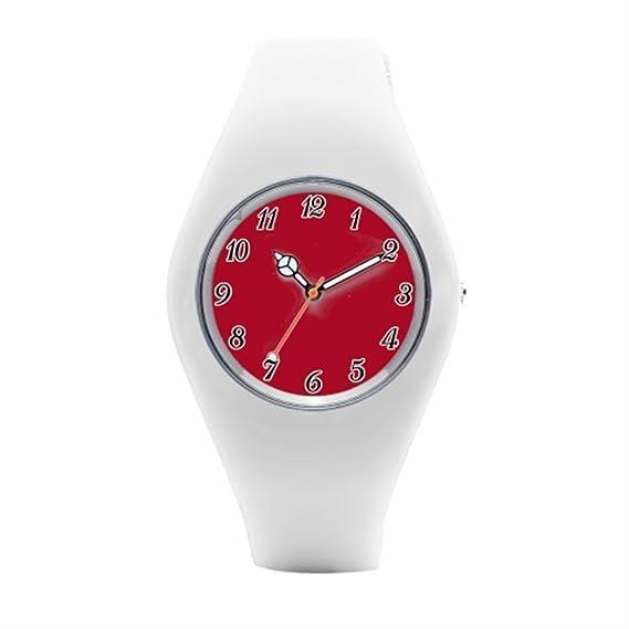 Reloj de pulsera, timetoshine tiendas rojo Gardenia para hombre reloj de pulsera: Amazon.es: Relojes