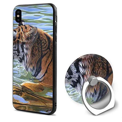 Swim Tiger iPhone X Case Ring Kickstand Case Ring Bracket 360 Degree Rotating Ring Drop Protection Shock Absorption Case