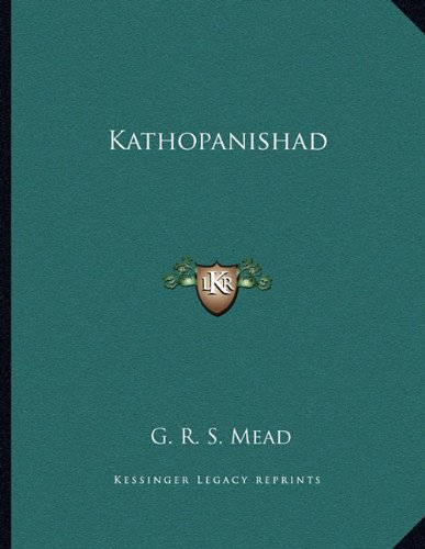Read Online Kathopanishad ebook