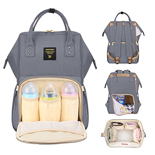 SUNVENO Diaper Backpack Travel Mummy Bag Baby Diaper Nappy C