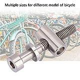 Alomejor M5x30/35/40mm Titanium Bolts for Bike
