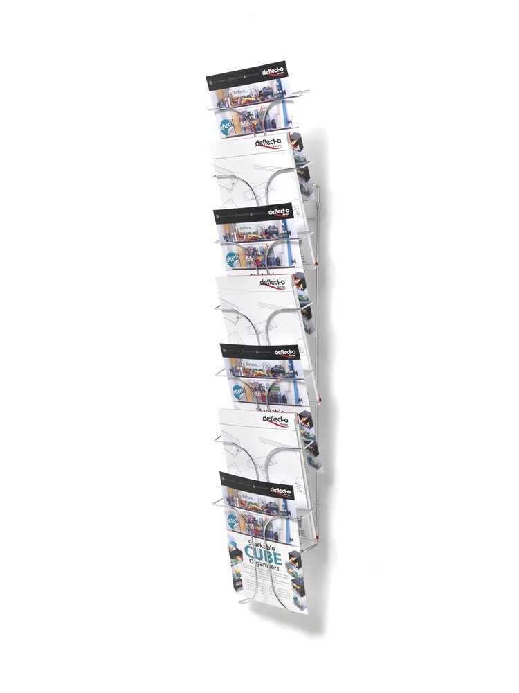 Espositori da parete a 7 scomparti Deflecto - 25x14x112 cm 713486