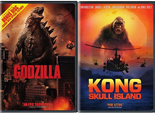 Monster Take Over Collection   Kong  Skull Island Vs Godzilla 2 Dvd Bundle King Double Feature